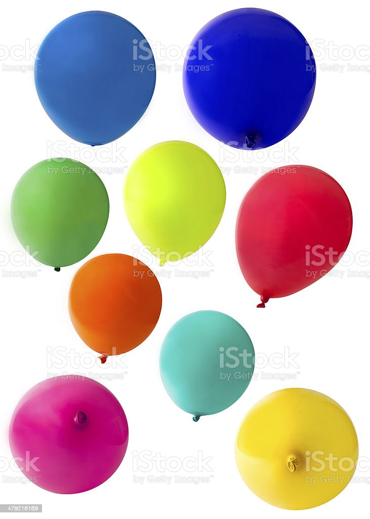 balloons cut out on a white background stock photo
