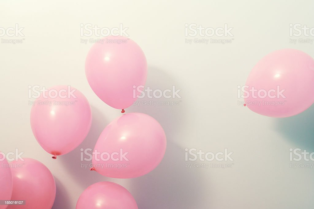 Balloons Floating in Air stock photo
