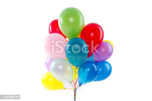 A string of colorful balloons