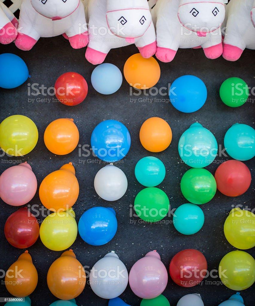 Balloons for Dart Toss stock photo