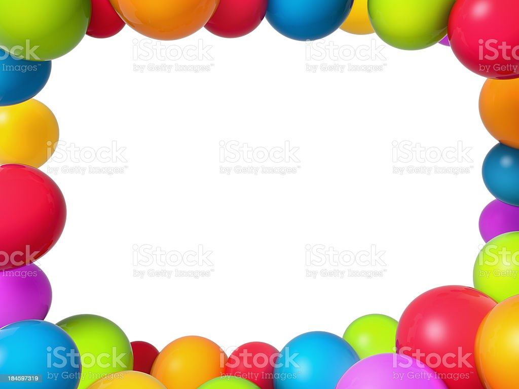 Balloons frame stock photo