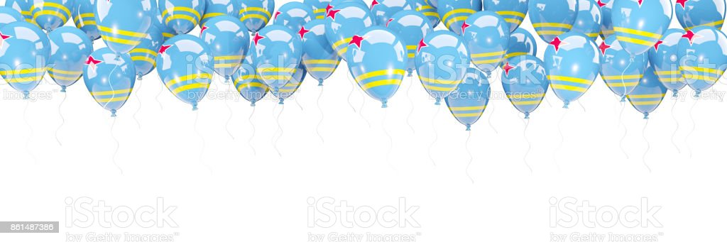 Balloons Frame With Flag Of Aruba Stock Photo & More Pictures of ...