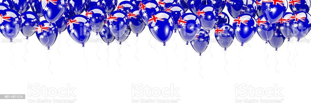 Luftballons-Rahmen mit Flagge von Australien – Foto