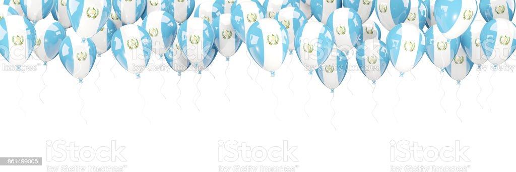 Marco de globos con la bandera de guatemala - foto de stock