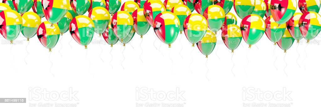 Balloons frame with flag of guinea bissau stock photo
