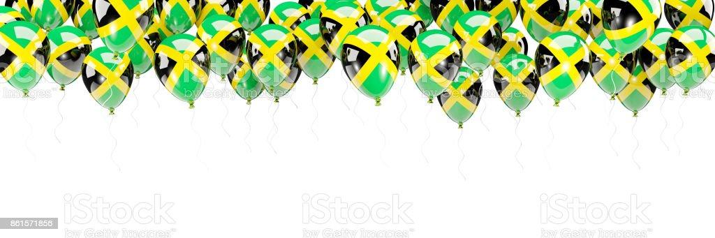 Marco de globos con la bandera de jamaica - foto de stock