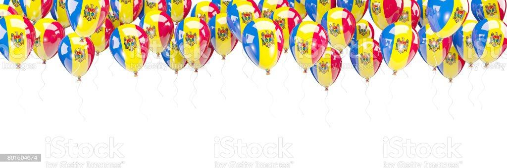 Balloons frame with flag of moldova stock photo