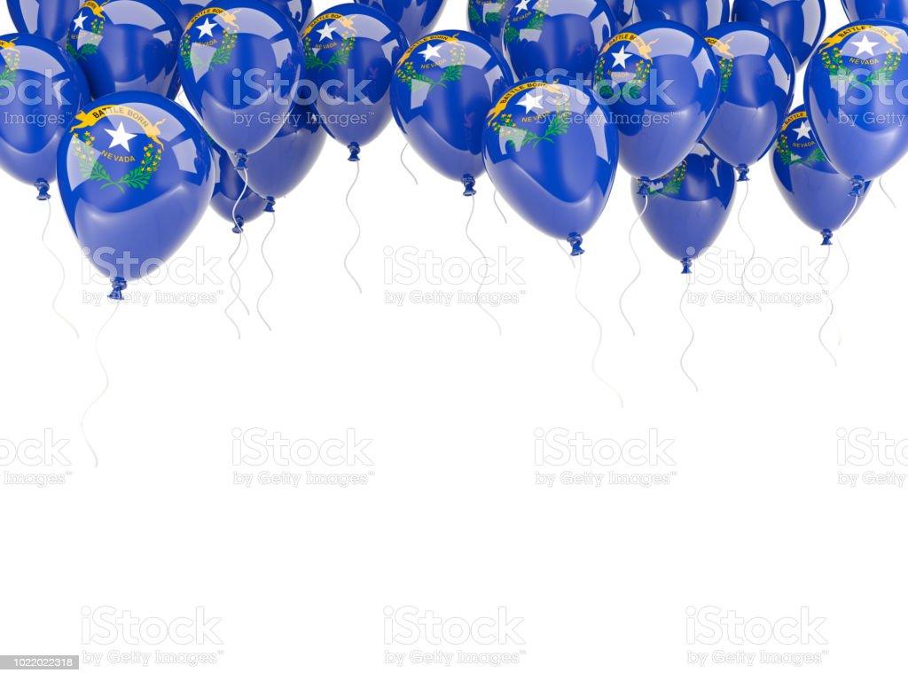 Moldura de balões com bandeira de nevada. Bandeiras de locais dos Estados Unidos - foto de acervo