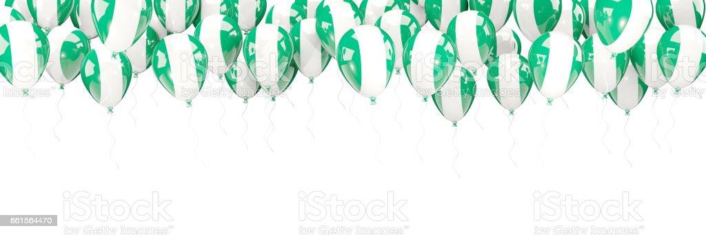 Marco de globos con la bandera de nigeria - foto de stock