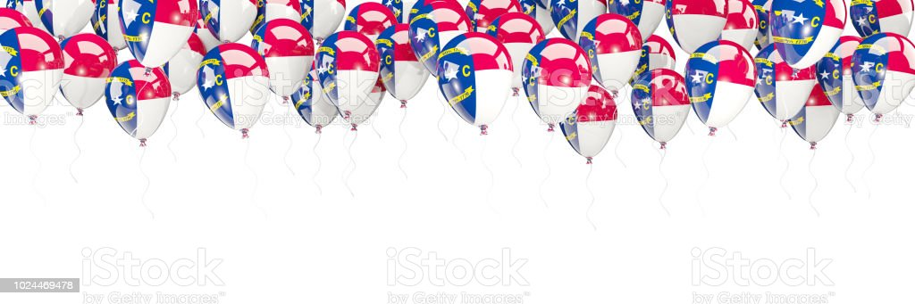 Balloons Frame With Flag Of North Carolina United States Local Flags ...