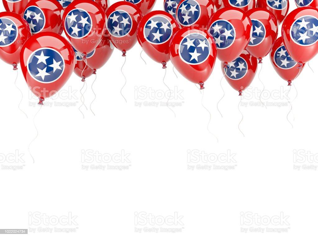 Moldura de balões com bandeira do tennessee. Bandeiras de locais dos Estados Unidos - foto de acervo