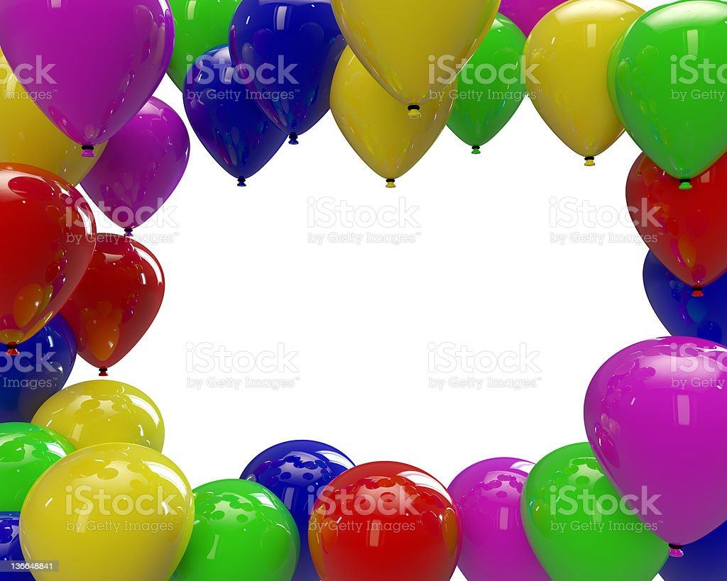 Balloons in a frame stock photo