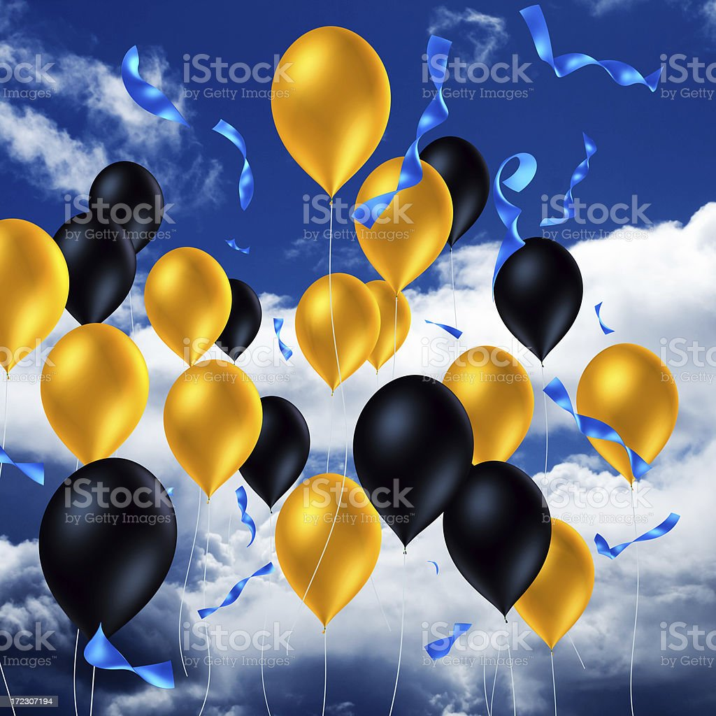 Balloons In The Air XXL royalty-free stock photo