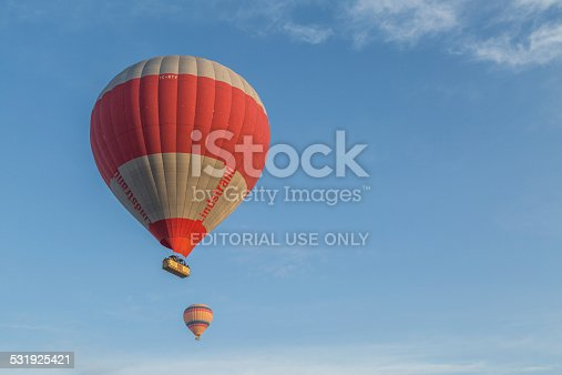 istock balloons in the blue leaving room for a copy space 531925421