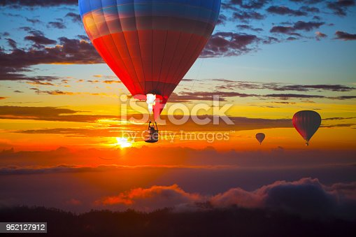 istock Balloons in the sky at sunset, Bali, Indonesia 952127912
