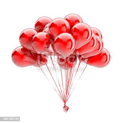istock Balloons Isolated On White 165180132