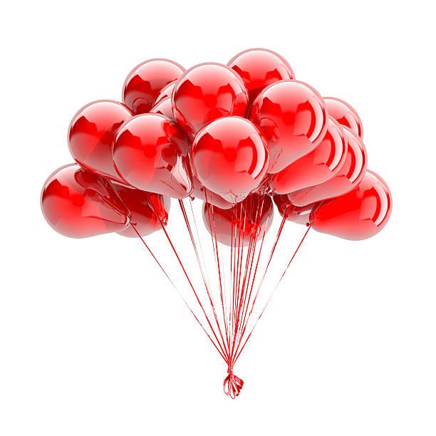 ballons, isoliert auf weiss - bandanzeige stock-fotos und bilder