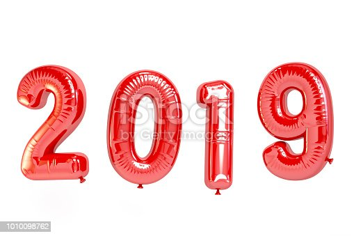 istock 2019 Balloons. New Year Concept 1010098762