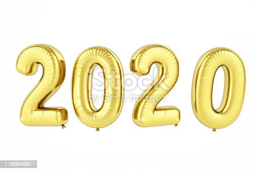 istock 2020 Balloons. New Year Concept 1169646971