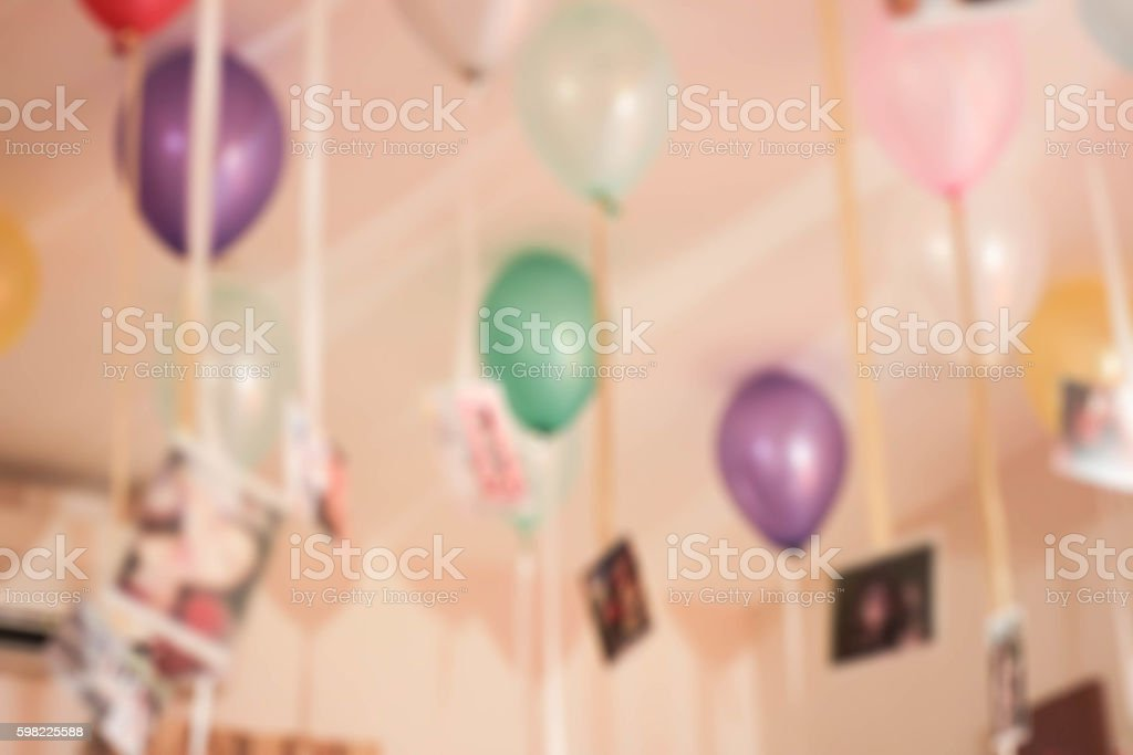 Balloons on  wall blur background foto royalty-free