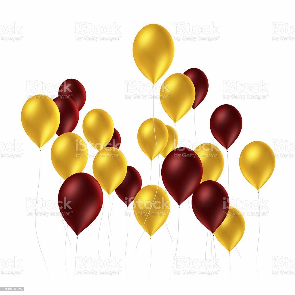Balloons on White royalty-free stock photo