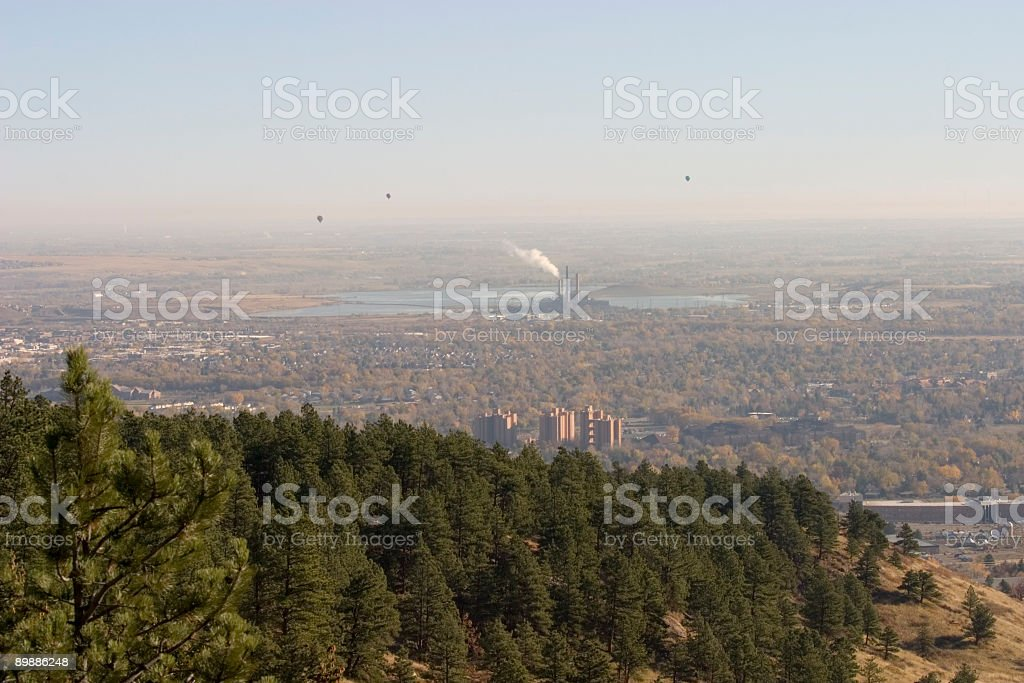 Balloons over Boulder royalty-free stock photo