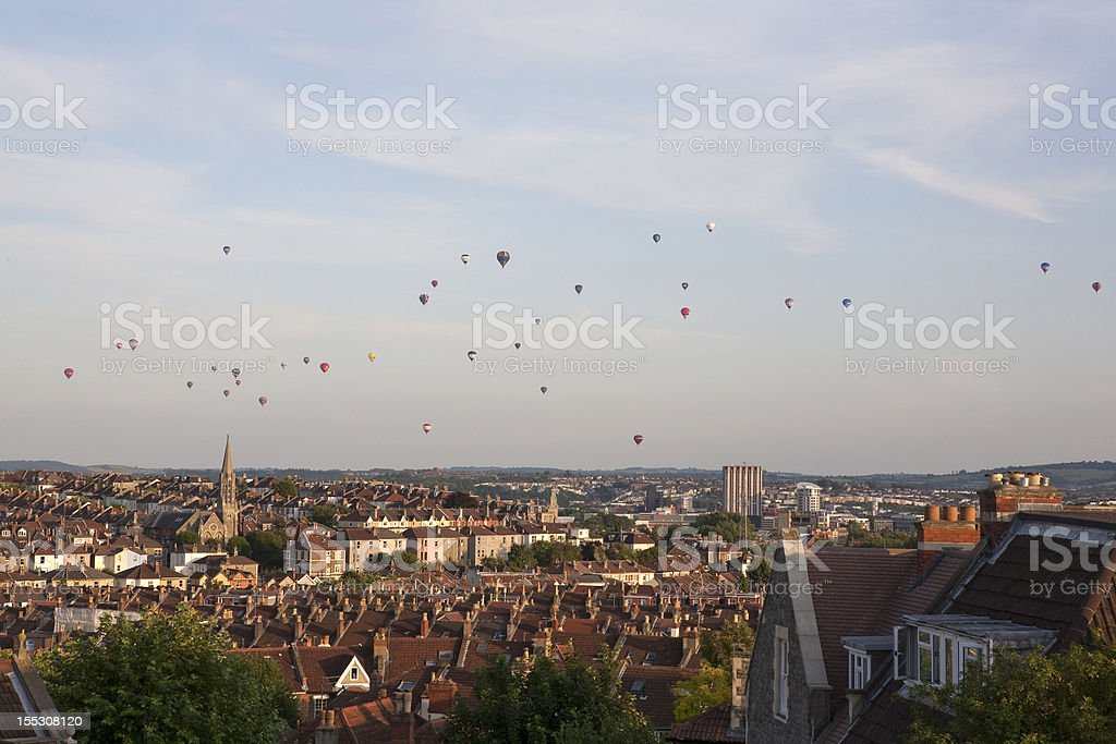 Balloons over Bristol stock photo