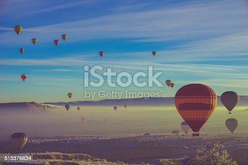 istock Balloons over Cappadocia 515376634