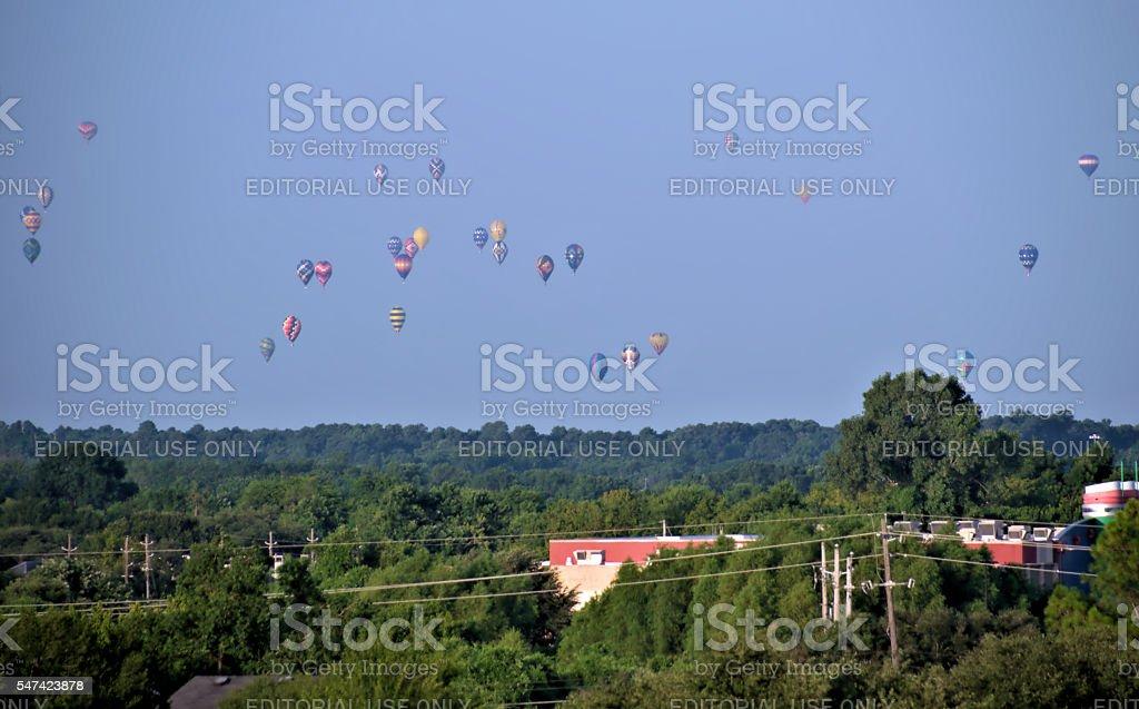 Balloons Over Shreveport stock photo