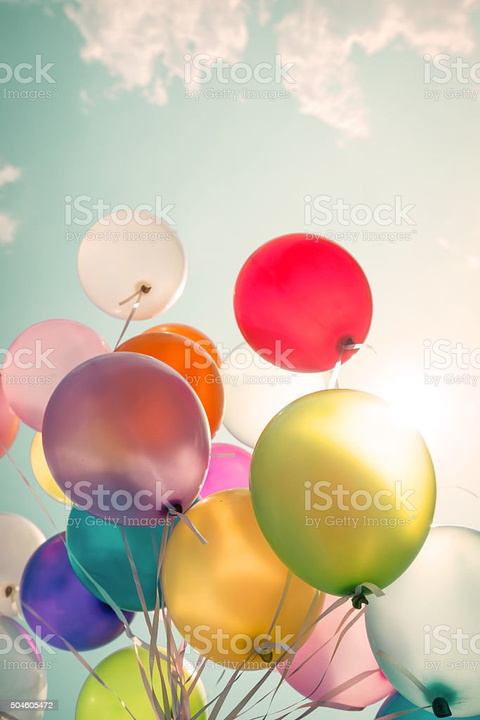 balloons stock photo