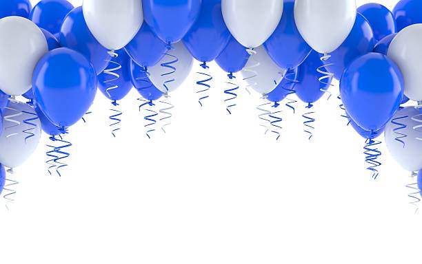 balloons - anniversary stock photos and pictures