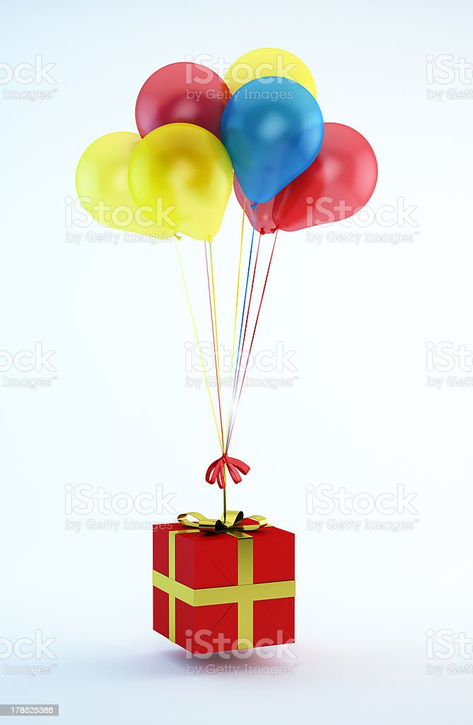 Balloons with A Gift stock photo