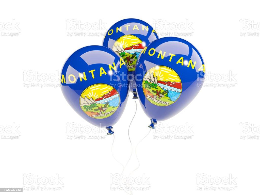 Balões com bandeira de montana. Bandeiras de locais dos Estados Unidos - foto de acervo