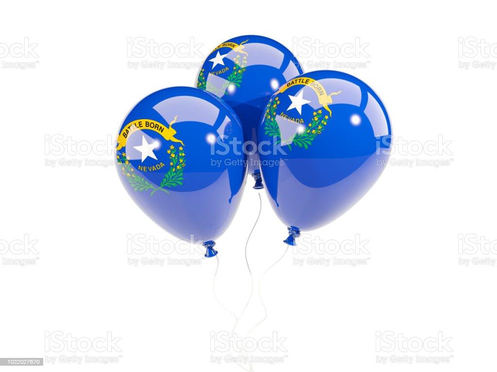 Balões com bandeira de nevada. Bandeiras de locais dos Estados Unidos - foto de acervo