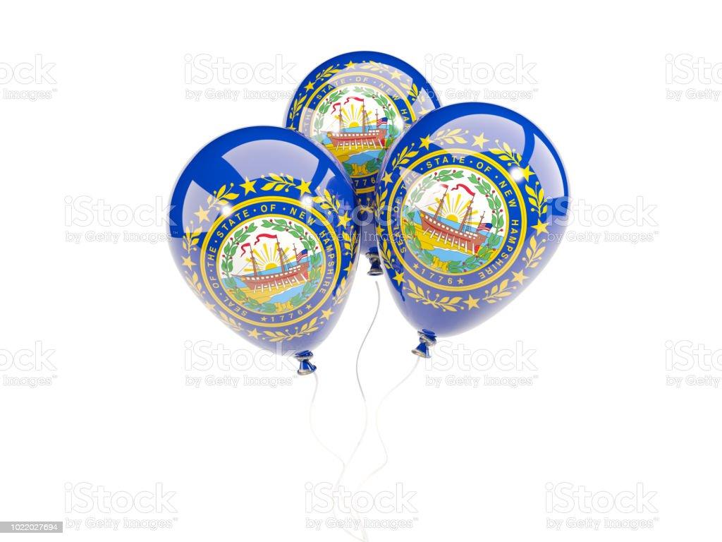 Balões com bandeira de new hampshire. Bandeiras de locais dos Estados Unidos - foto de acervo