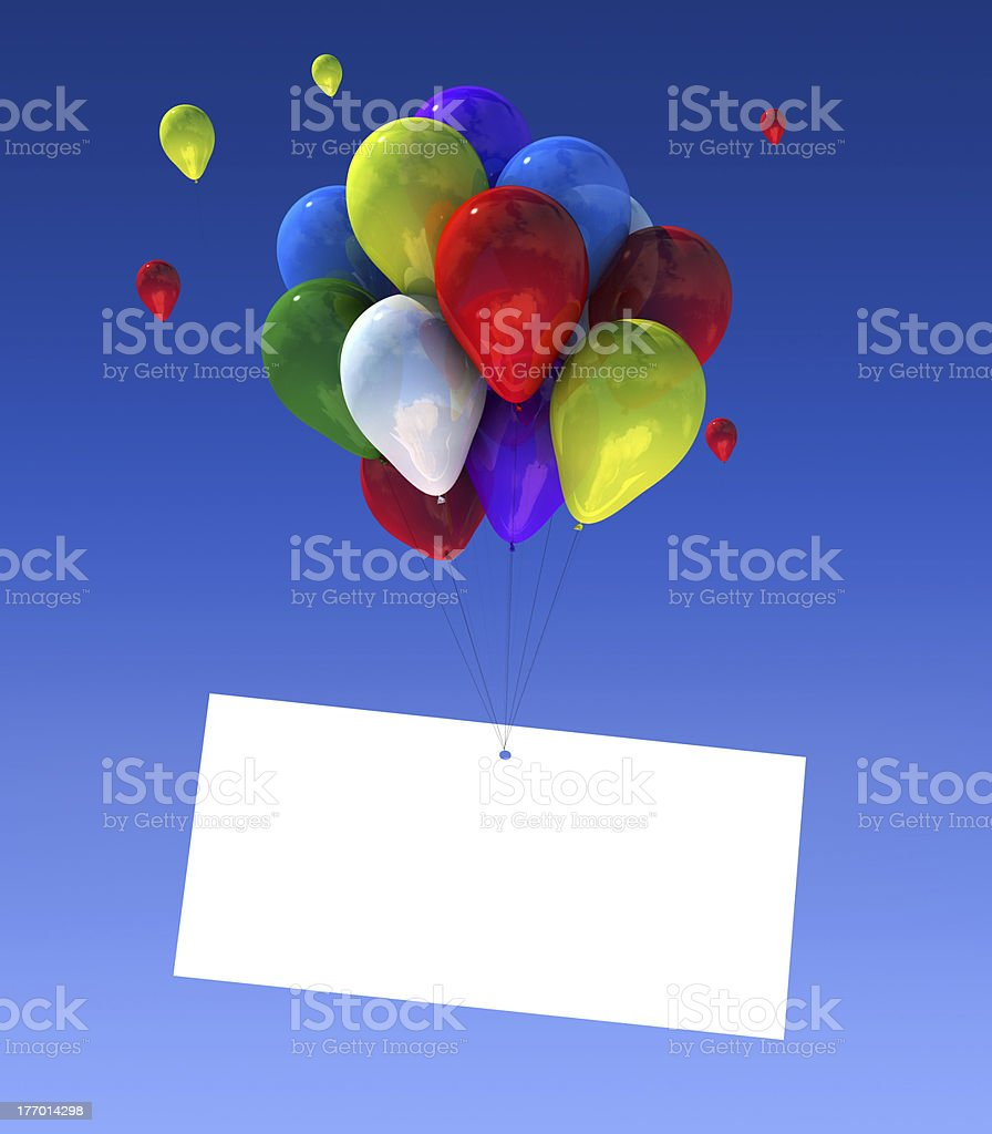 Balloons with sign stock photo