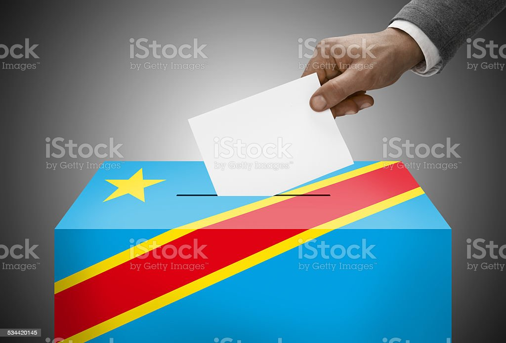 Ballot box as flag - Republic of the Congo (Congo-Kinshasa) stock photo
