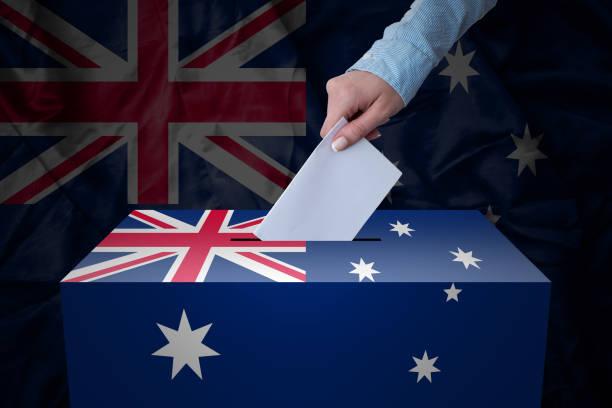 Ballot Box - Election - Australia stock photo