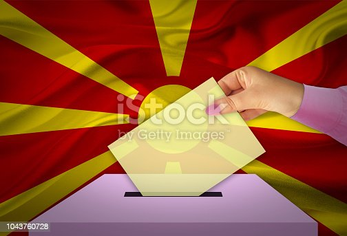 935056316 istock photo Ballot Box - Election - MACEDONIA 1043760728