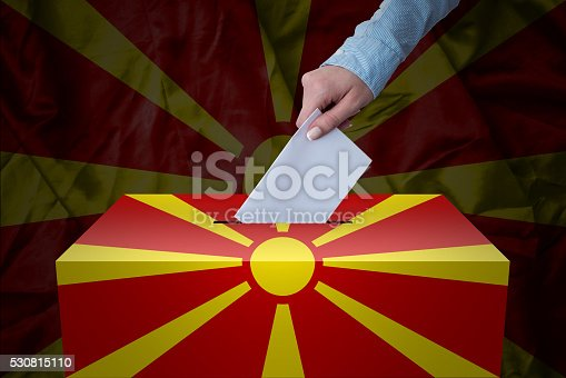 935056316 istock photo Ballot Box - Election - Macedonia 530815110