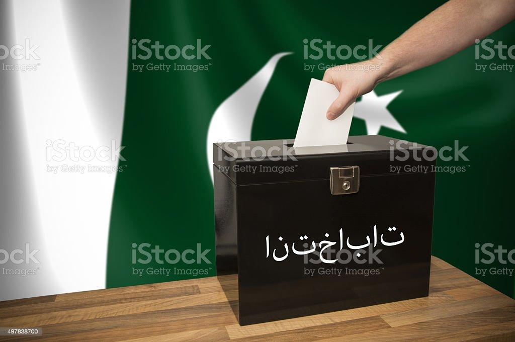 Ballot Box - Election - Pakistan stock photo
