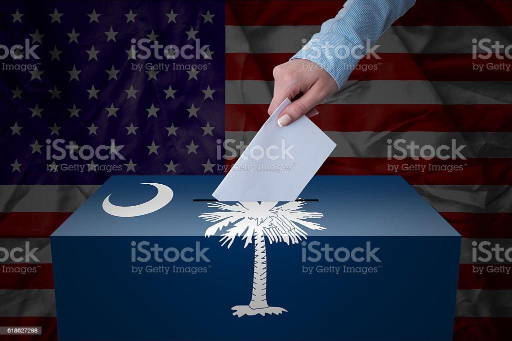 Ballot Box - Election - South Carolina, USA stock photo