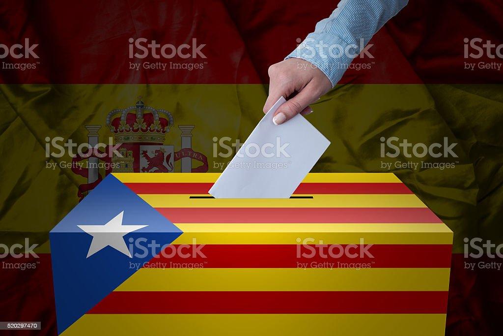 Ballot Box - Election - Spain - Catalonia stock photo
