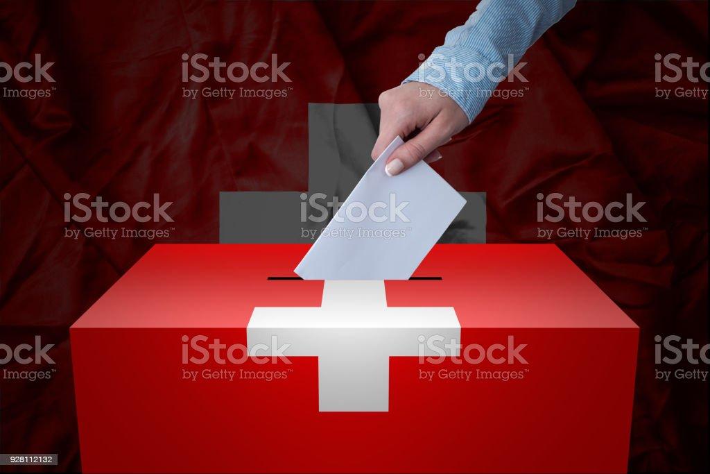 Wahlurne - Wahl - Schweiz – Foto