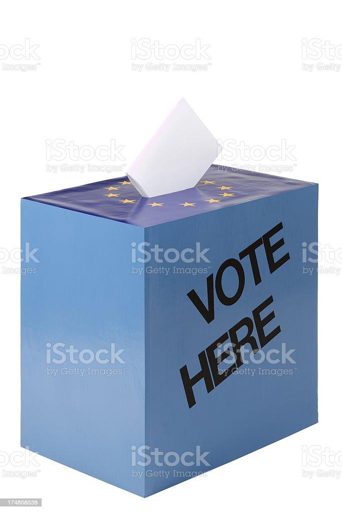 Ballot box in EU royalty-free stock photo