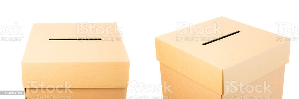 ballot box on white royalty-free stock photo