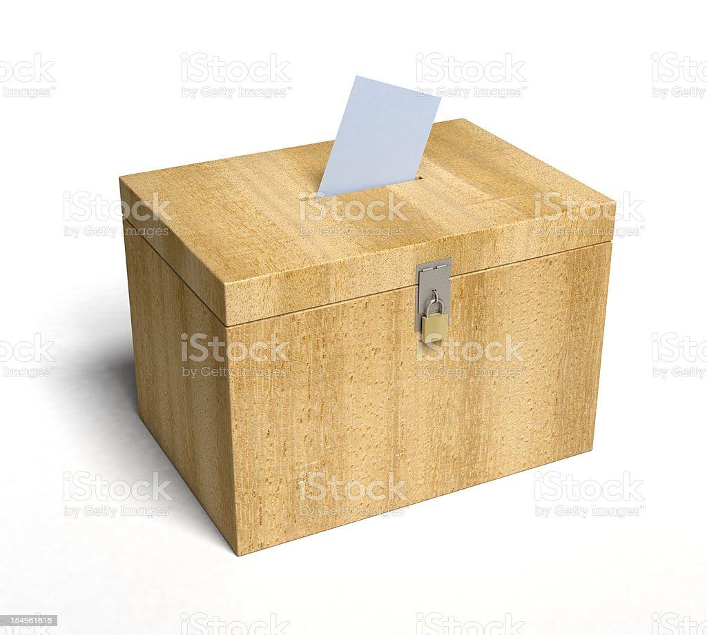 Ballot Box royalty-free stock photo
