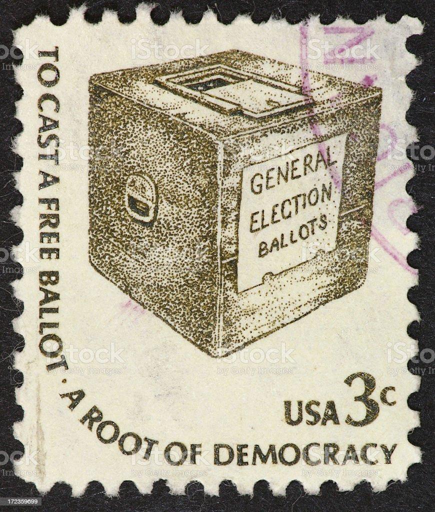 ballot box stamp royalty-free stock photo