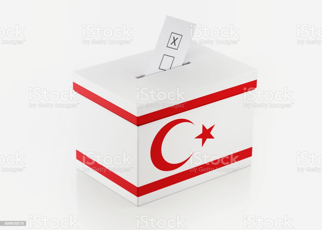 Ballot Box Textured with  Cypriot Flag stock photo