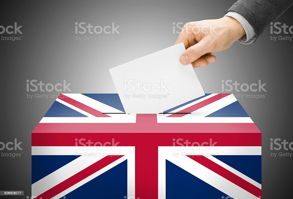 Ballot box - United Kingdom of Great Britain stock photo
